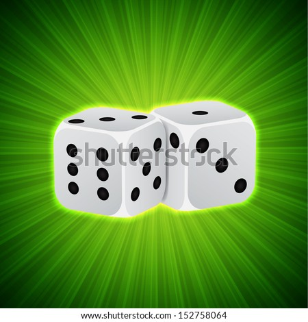 Casino background with dices. Raster version