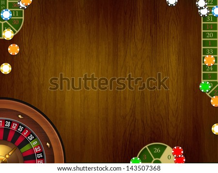 casino brown elegant table background - stock photo