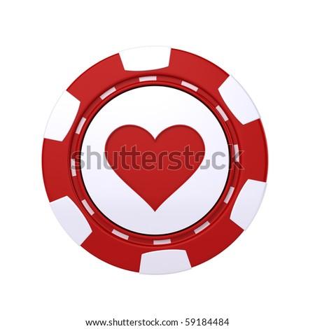 Casino chip - stock photo