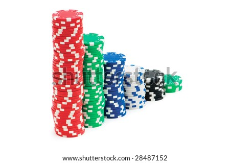 Casino chips isolated on the white background