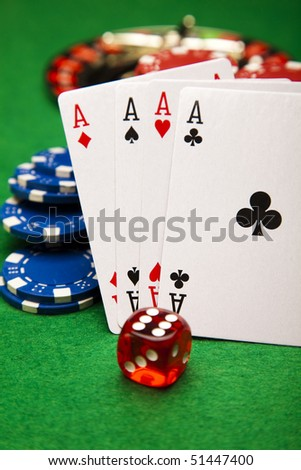 Casino Clubs! - stock photo
