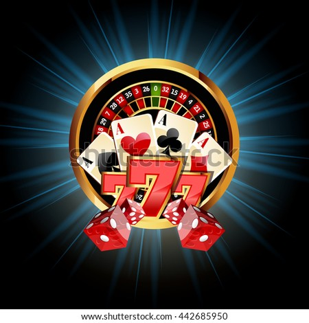 Casino  Composition with Roulette Wheel - stock photo