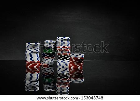 Casino concept with ambient light - stock photo