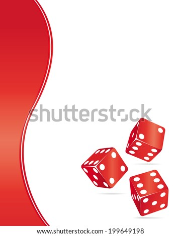 Casino design elements. Red dices illustration. - stock photo