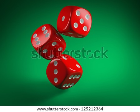 Casino dice - stock photo