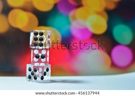 casino gambling dices - stock photo