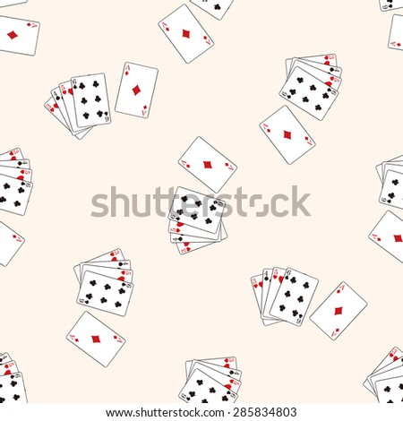 casino poker card , cartoon seamless pattern background