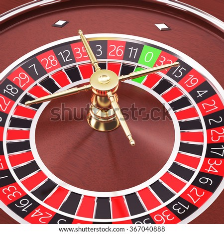 Casino roulette close up. - stock photo