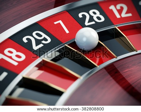 Casino roulette close up - 3d render - stock photo