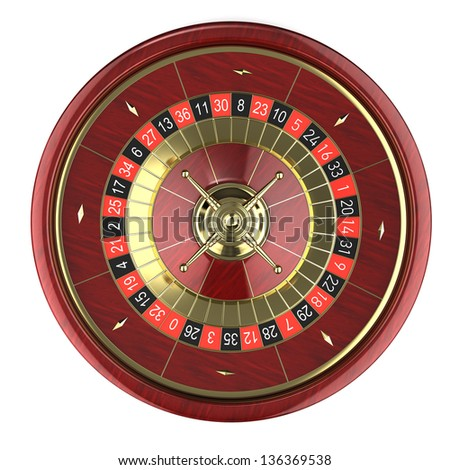 Casino Roulette - 3d render - stock photo