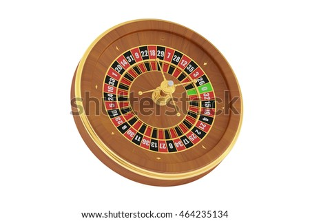 Casino roulette, 3D rendering isolated on white background
