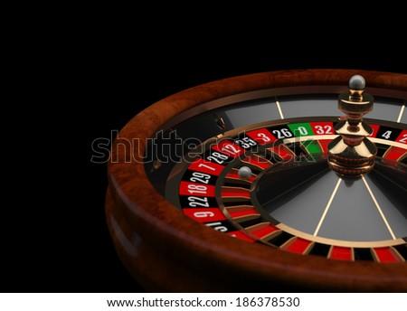 Casino Roulette 3D wheel - stock photo