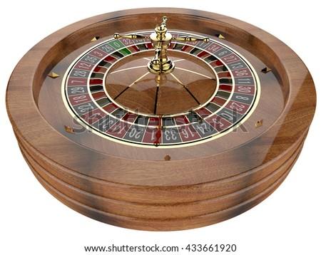 Casino roulette wheel 3D - stock photo