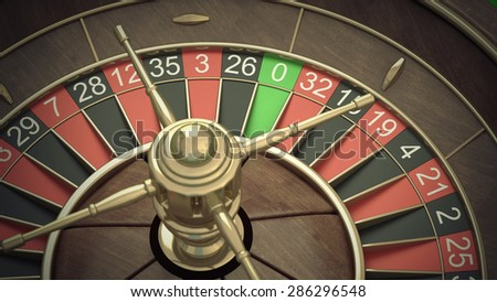 Casino Roulette Wheel. High resolution 3d - stock photo