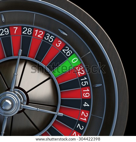 Casino Roulette Wheel  isolated on black background. High resolution 3d