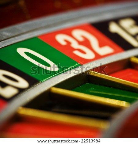 Casino roulette, zero - stock photo