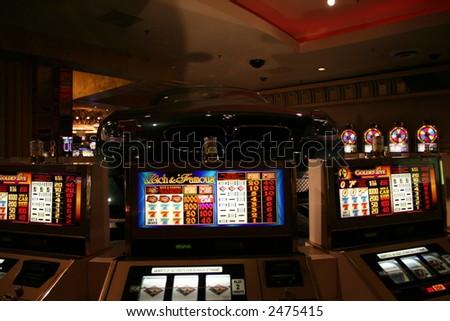 casino slot machines - stock photo