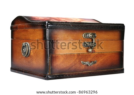 Casket for jewelry it is isolated on a white background