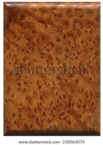 casket made of polished root wood - stock photo