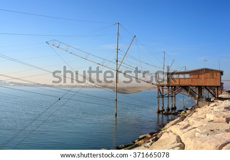 Casoni, ancient stilt house of fisher man in Sottomarina. Chioggia