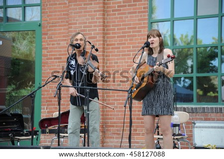 CASPER, WYOMING___JULY 20, 2016:  The Cantrells performing at the NIC Music Festival in Casper, Wy.