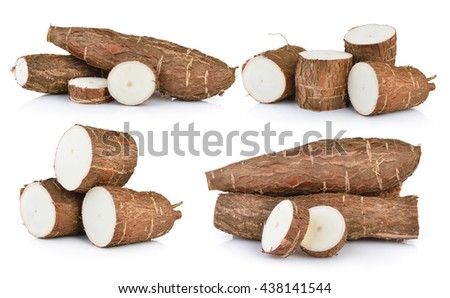 Cassava isolated on a white background