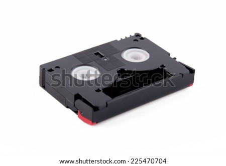 cassette for video cameras - stock photo