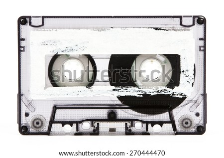 cassette tape isolated - stock photo