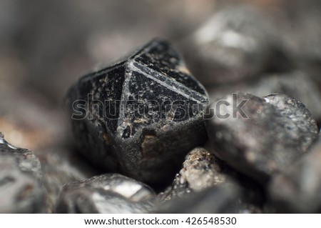 Cassiterite,Tin ore,Crystal formed.