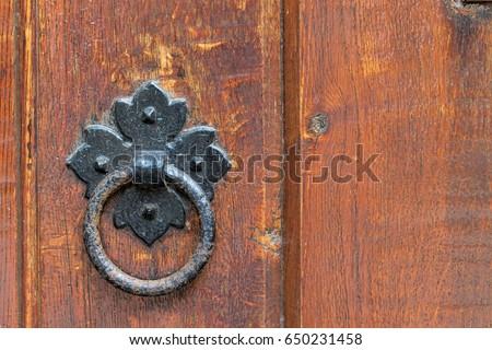 Antique Medieval Wooden Door Knob Stock Photo 53024323 Shutterstock