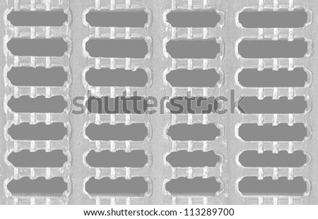 Cast Metal Grate Grid Texture - stock photo