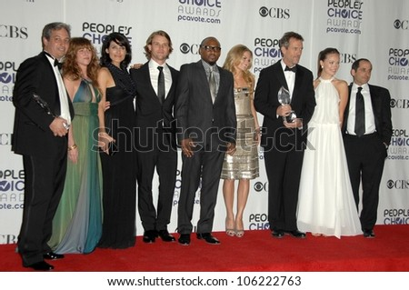 Cast of 'House'  in the press room at the 35th Annual People's Choice Awards. Shrine Auditorium, Los Angeles, CA. 01-07-09