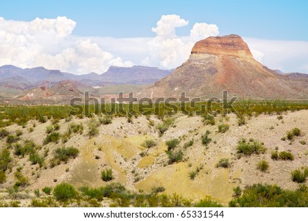 Castalon Peak painted desert mountain - stock photo