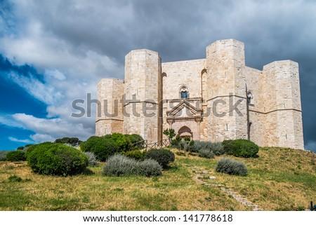 Castel del Monte, Unesco heritage in the south of Italy, Apulia region - stock photo
