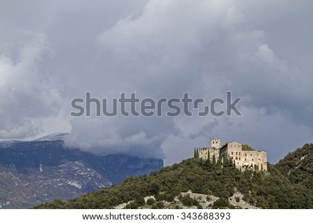 Castel Madruzzo - idyllic castle, which dominates the town of Lasino in Val Cavedine