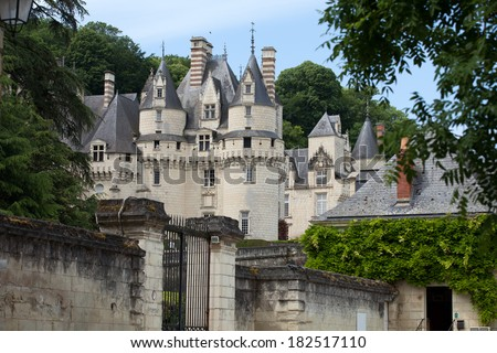 Castel of Rigny-Usse   Built in the eleventh century. Loire Valley, France - stock photo