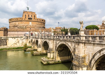 Castel Sant Angelo in a summer day in Rome, Italy