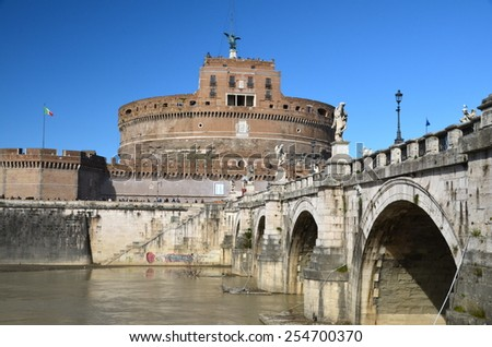 Castel Sant'Angelo in Rome, Italy. - stock photo