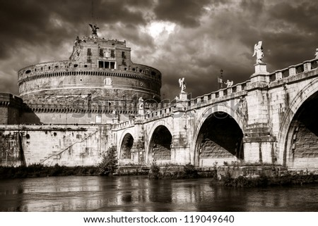 Castel Sant'Angelo, Rome - stock photo