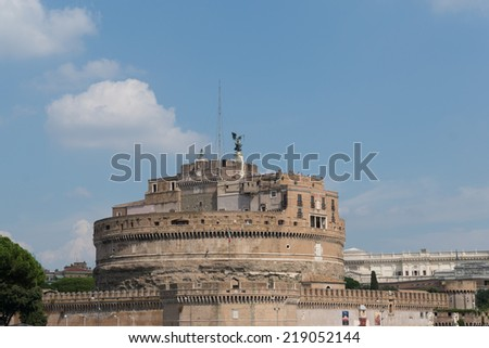Castel Sant'angelo, Rome, Italy. - stock photo