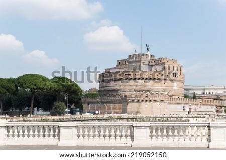 Castel Sant'angelo, Rome, Italy. - stock photo