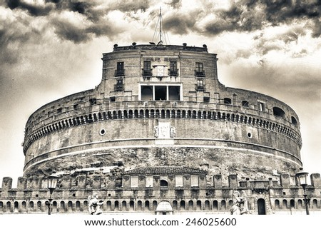 Castel Sant Angelo, Rome, Italy. Architectural detail. - stock photo