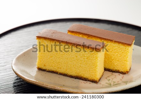 castella Japanese food - stock photo
