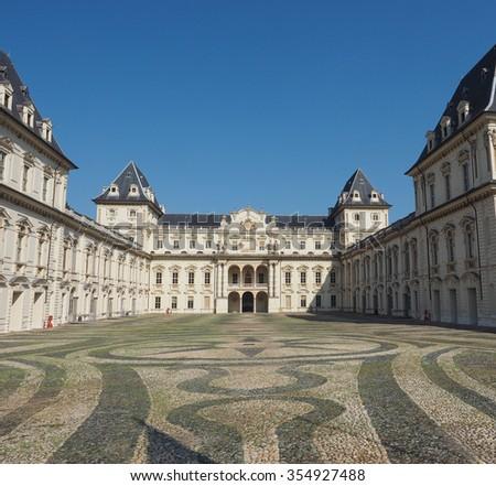 Castello del Valentino baroque castle in Turin, Italy - stock photo