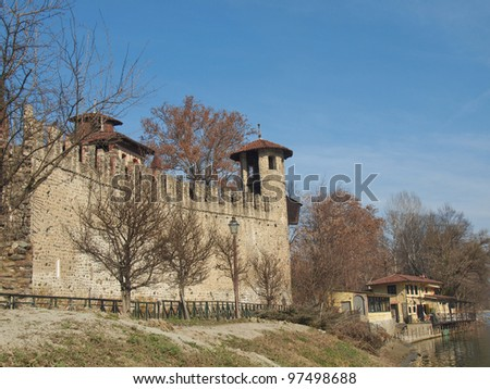 Castello Medievale medieval castle, Turin, Italy
