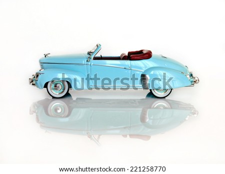 Castellon,Spain.October 3,2014.Small toy car over white     - stock photo