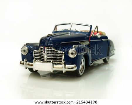 Castellon,Spain.September 5,2014.Close up picture of a classic car (miniature), Buick year 1941 - stock photo