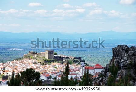 Castelo de Vide village, north of Alentejo region,Portugal - stock photo