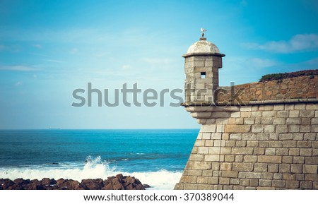 Castelo do Queijo by the Sea - stock photo