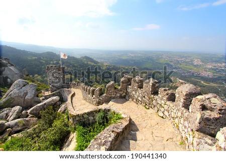 Castelo Dos Mouros, Sintra, Portugal - stock photo